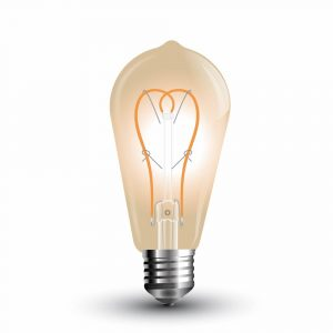 LED Bulb 5W Long Filament-ST64 Amber Cover 2200K (warm white)