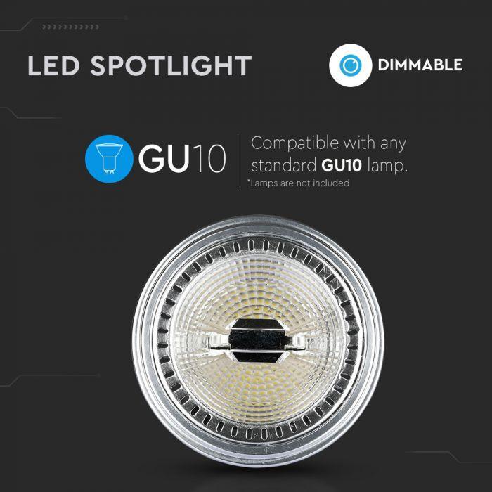 12W AR111 LED Spotlight GU10 Dimmable