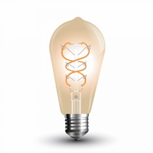 LED Bulb 5W Curve Filament-ST64 Amber Cover 2200K (warm white)