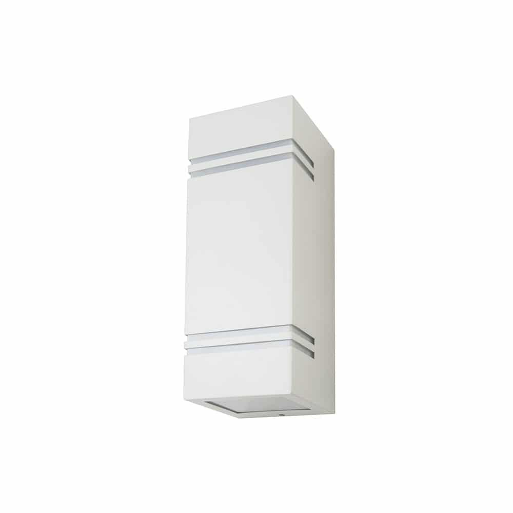 Wall Fiting Square White Body 2Way IP44