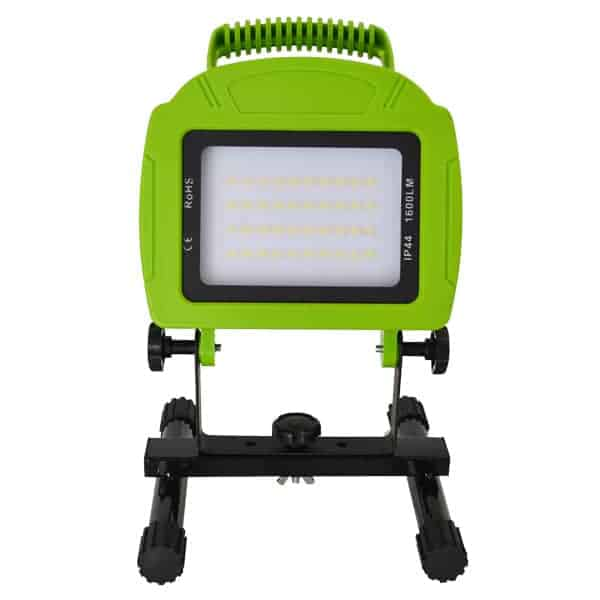 20W SMD Floodlight Green Body Rechargeable 6000K (white)