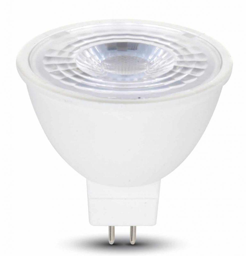 LED Spotlight 6.5W MR16 GU5.3 Clear Lens - 38 deg. 12V