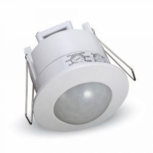 PIR Ceiling Sensor Recessed White 360 degree