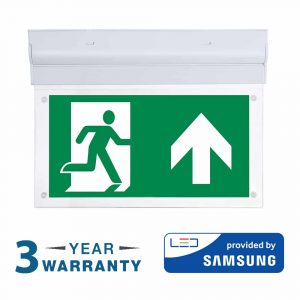 ceiling led emergency light sign
