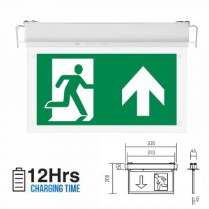 LED SAMSUNG Recessed Fixed Emergency LED Exit Light 6000k IP20