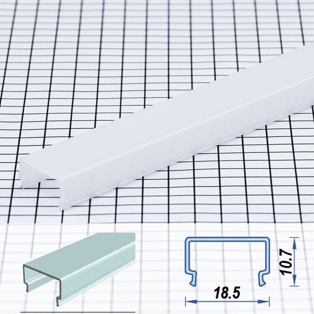 Square Surface Poly-carbon LED Profile Opal 18.5 x 10.7 mm  (metre)