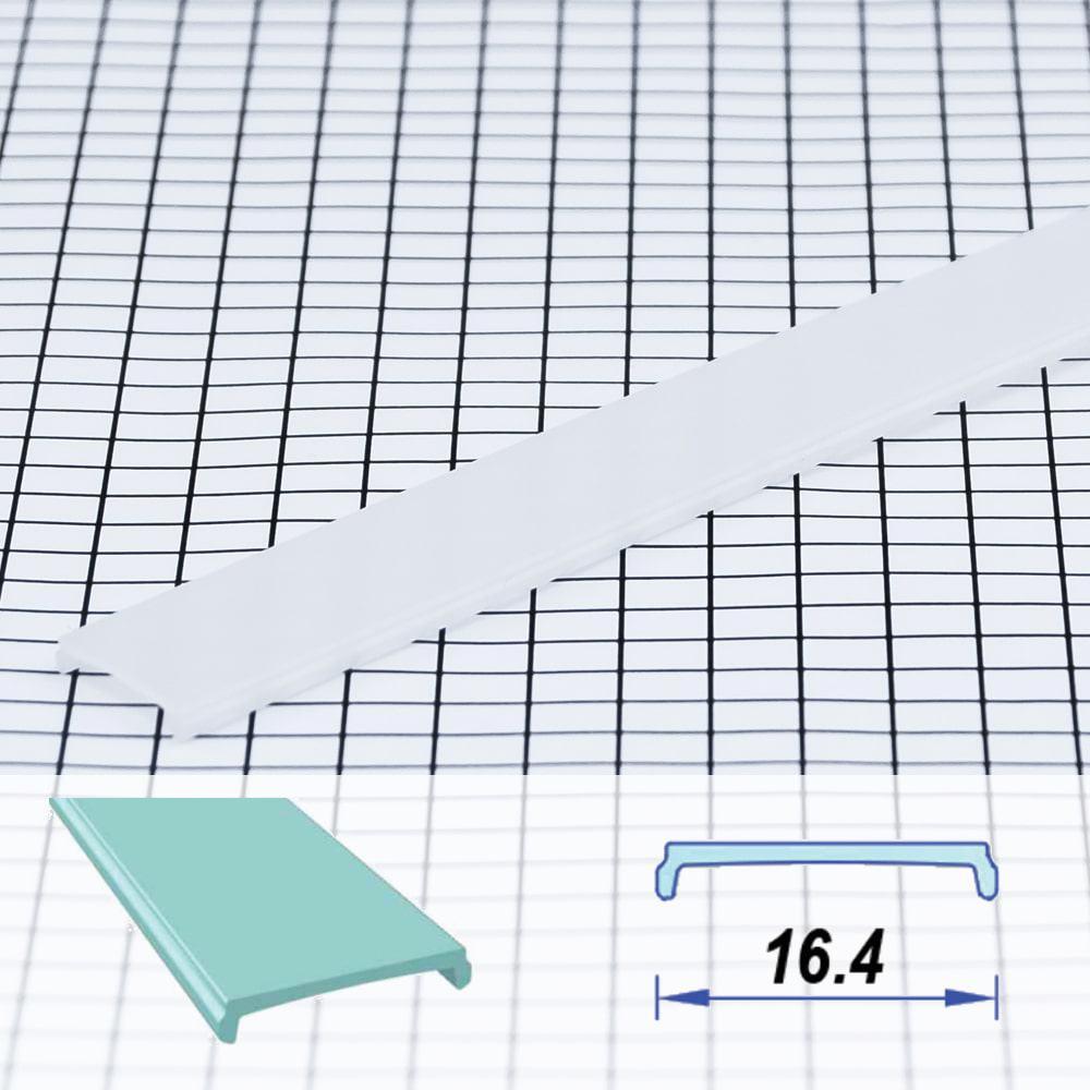 Square Flat Surface Poly-carbon LED Profile Opal 16.4 mm (metre)