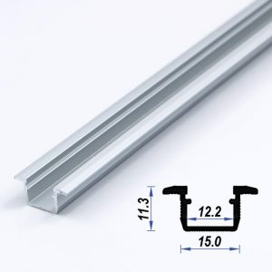 Recessed Aluminium Led Profile Mat Anodized 15*11.3 mm(metre)