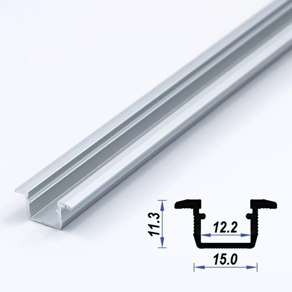 Recessed Aluminium Led Profile Mat Anodized 15*11.3 mm(metre)
