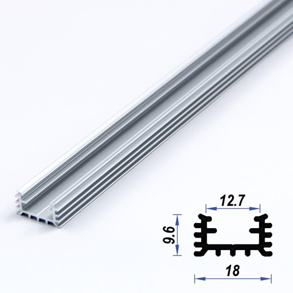 Surface Aluminium LED Profile 18 x 9.6 mm (metre)
