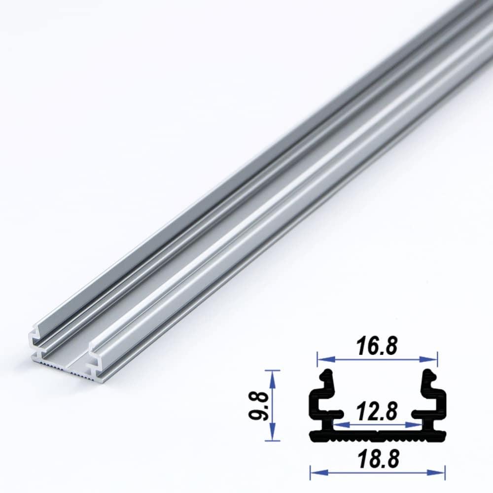 Surface Aluminium LED Profile 18.8 x 9.8 mm (metre)