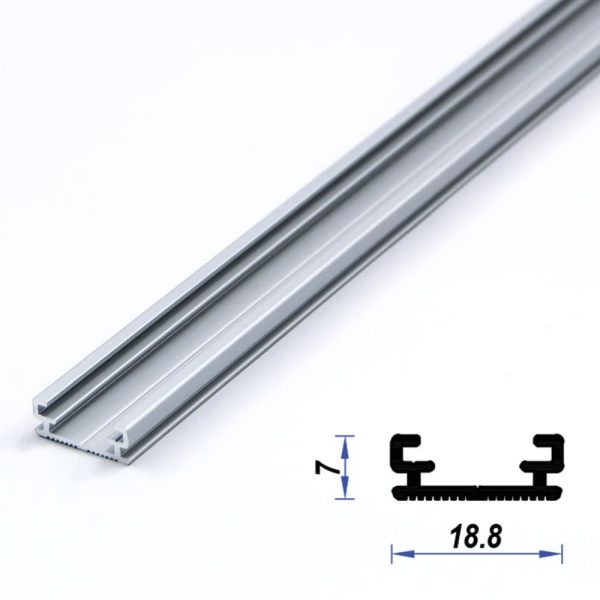 Surface Aluminium LED Profile slim 18.8 x 7 mm (metre)