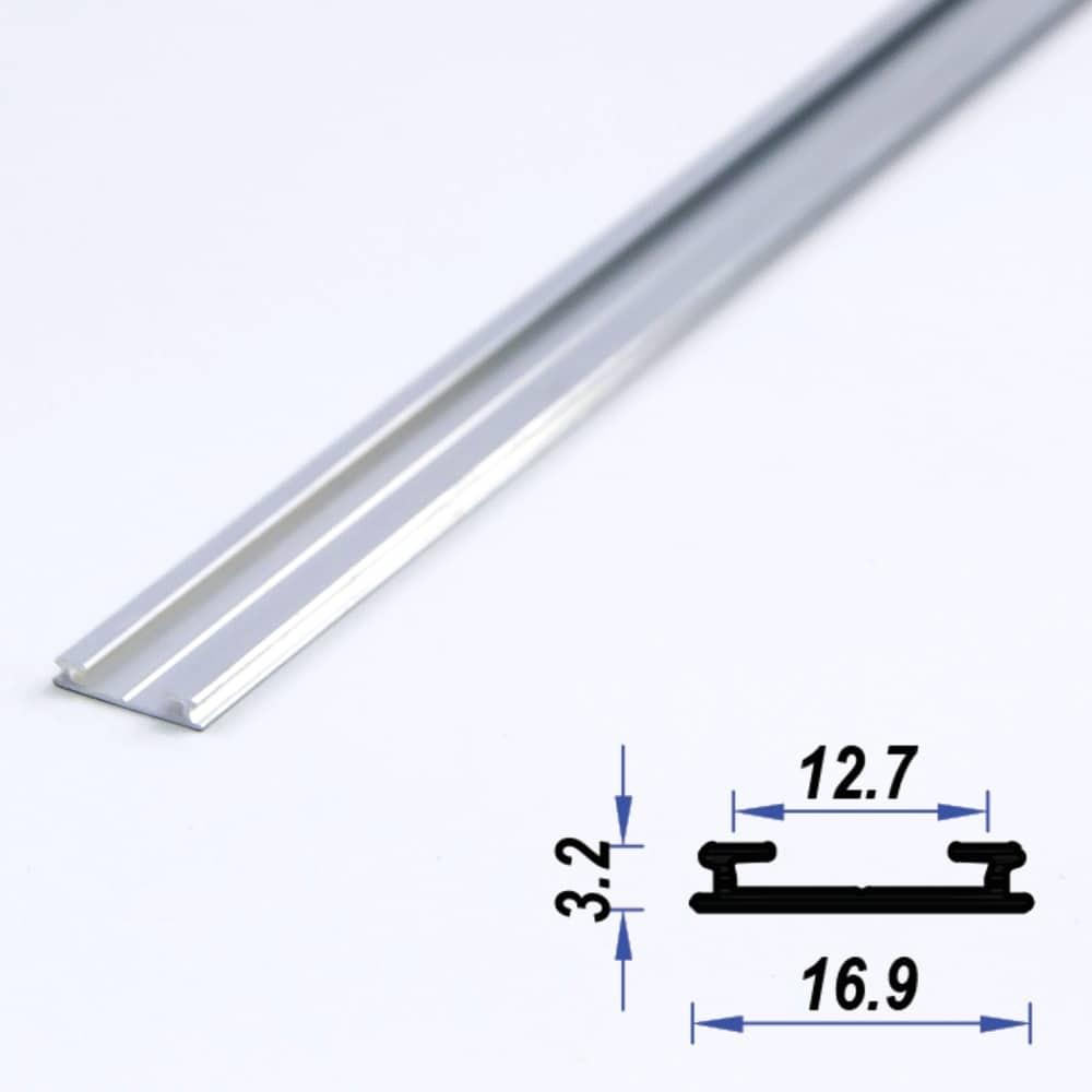 Surface Aluminium LED Profile Super Slimd 16.9 x 3.2 mm (metre)