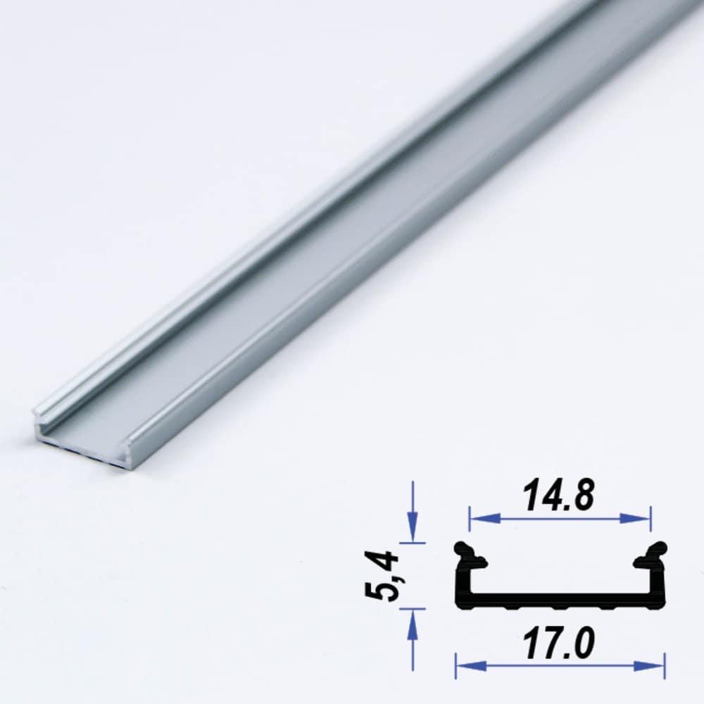 Surface Aluminium LED Profile Slimd 17 x 5.4 mm (metre)