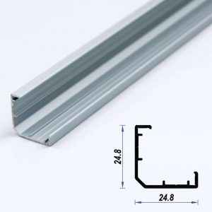 Corner Aluminium LED Profile Mat Anodized 24.8*24.8 mm (metre)