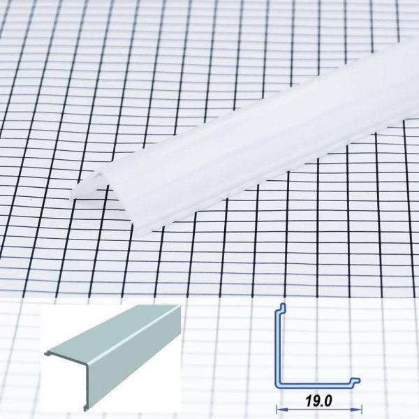Corner Poly-carbon LED Profile Opal 19 mm (metre)
