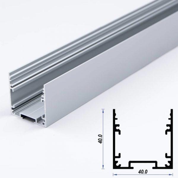 Surface Aluminium LED Profile 40 x 40 mm (metre)
