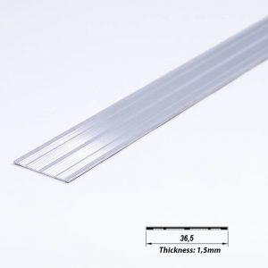 Surface Aluminium LED Plate Mat Anodized 36.5 mm (metre)