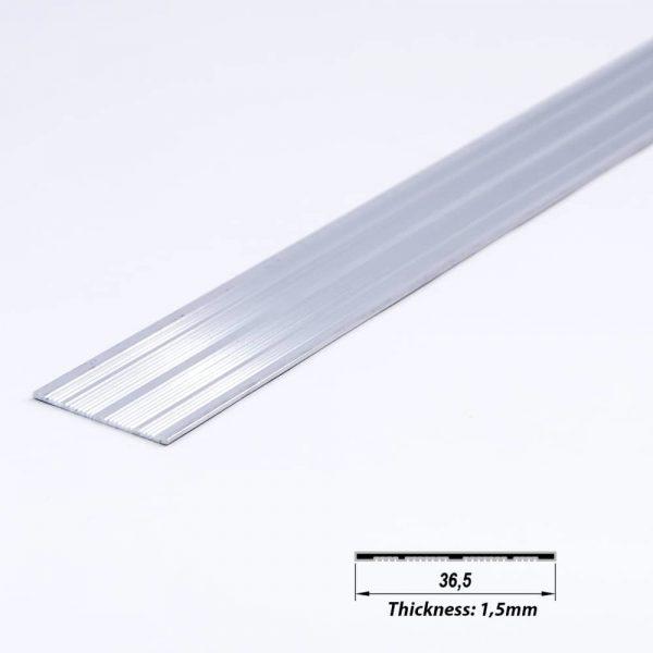 Surface Aluminium LED Plate Mat Anodized 36.5 mm (metre)