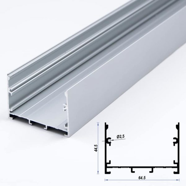 Surface Aluminium Profile 44.5 x 64.5 (metre)