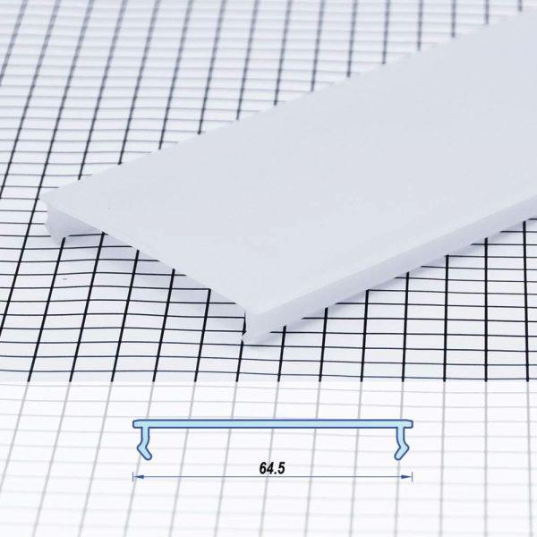 Polycarbon Profile White Flat 64.5mm (metre)