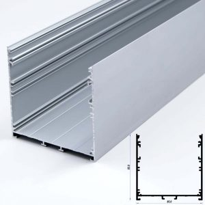 Surface Aluminium Profile Mat Anodize 85*85mm (metre)