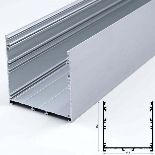 Surface Aluminium Profile Mat Anodize 85*85mm (metre)