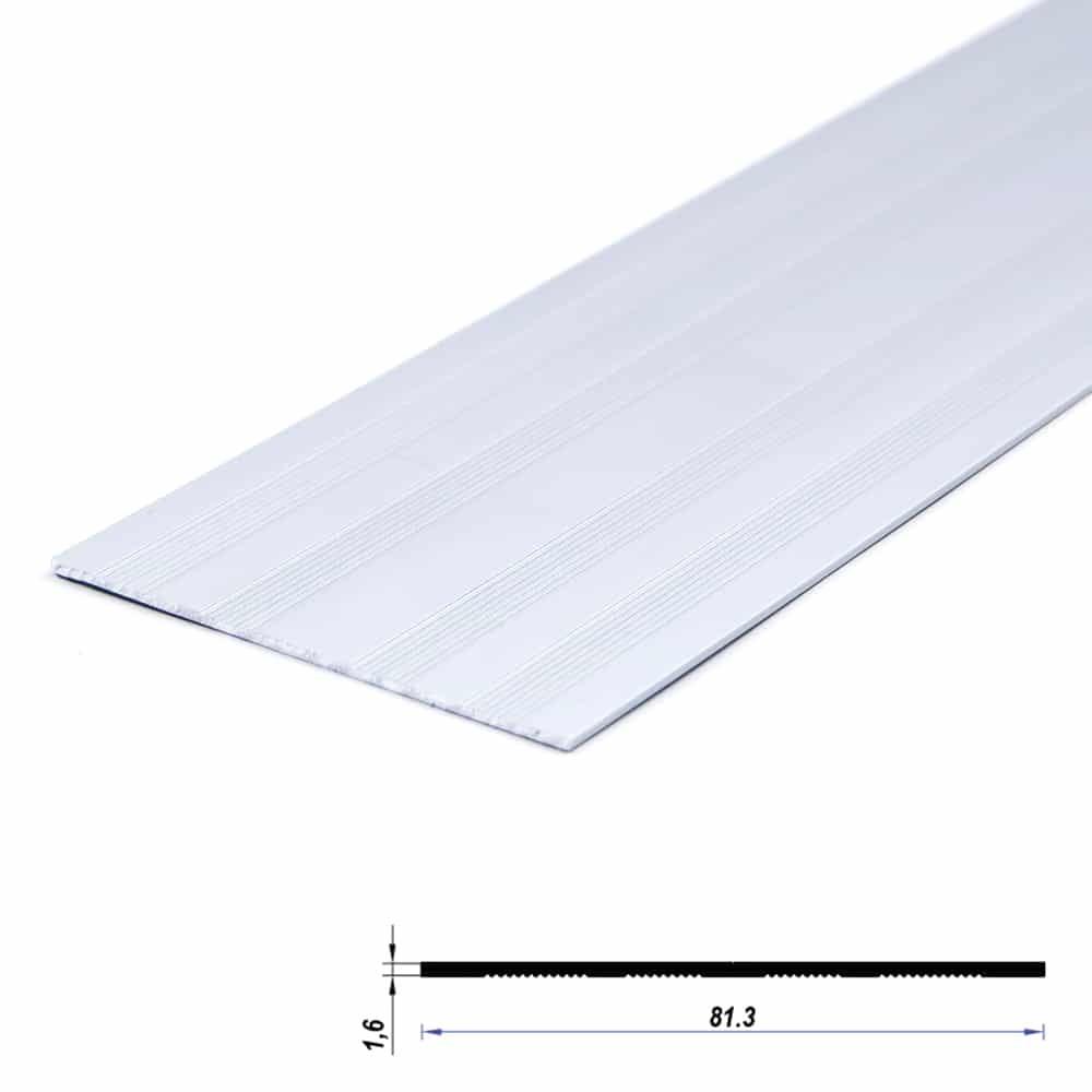 Aluminium Profile Plate Raw 81.2 x 1.6mm (metre)
