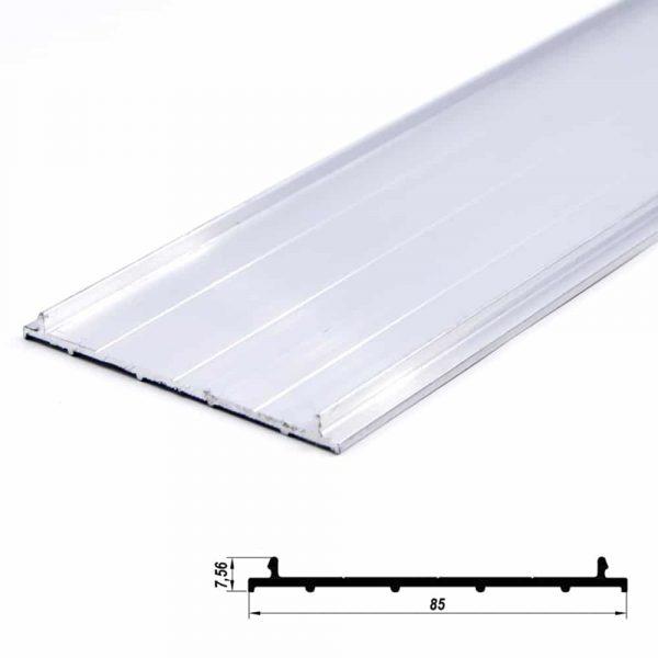 Aluminium Profile Plate Cover Anodized 85*7.5mm (metre)