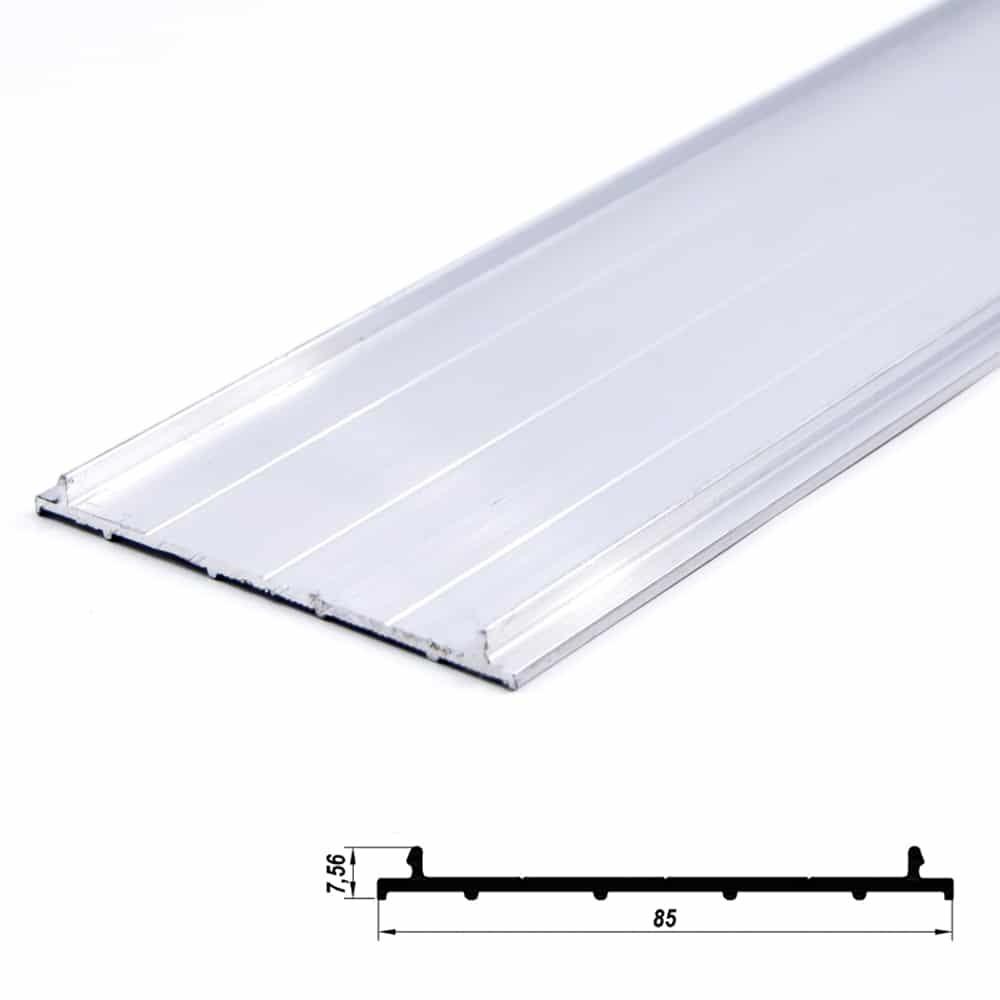 Aluminium Profile Plate Cover Anodized 85 x 7.5mm (metre)