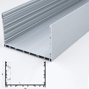 Surface Aluminium Profile Mat Anodize 140*90mm (metre)