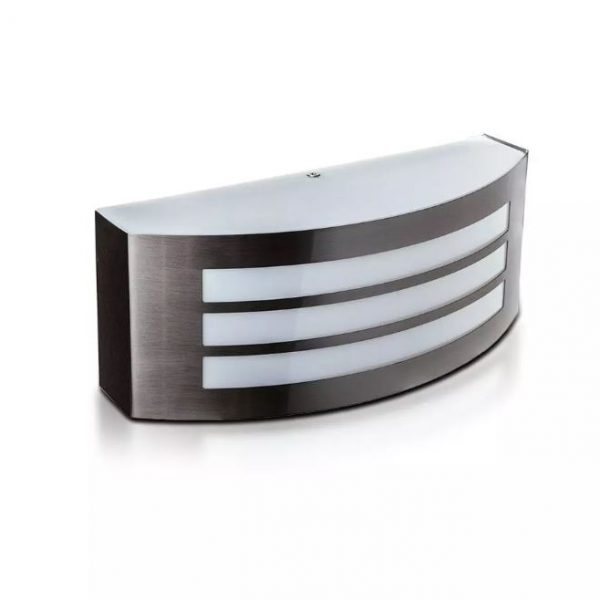 Wall Lamp E27 With Stainless Steel And PC IP44 - with Stripes