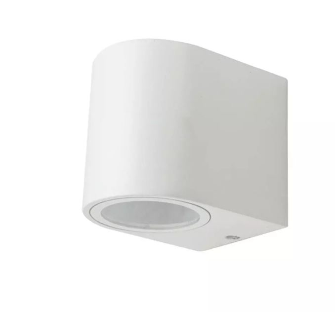 Wall Sleek Wall Fitting  Round White Body 1Way IP44