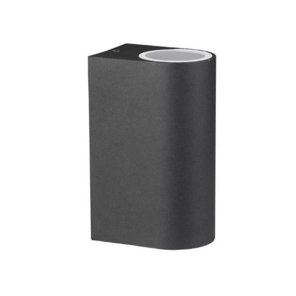 Wall Sleek Wall Fitting Aluminium Round Black 2Way IP44