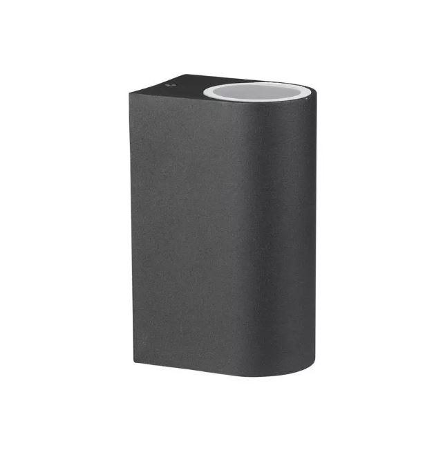 Wall Sleek Wall Fitting Aluminium Round Black 2Way IP44