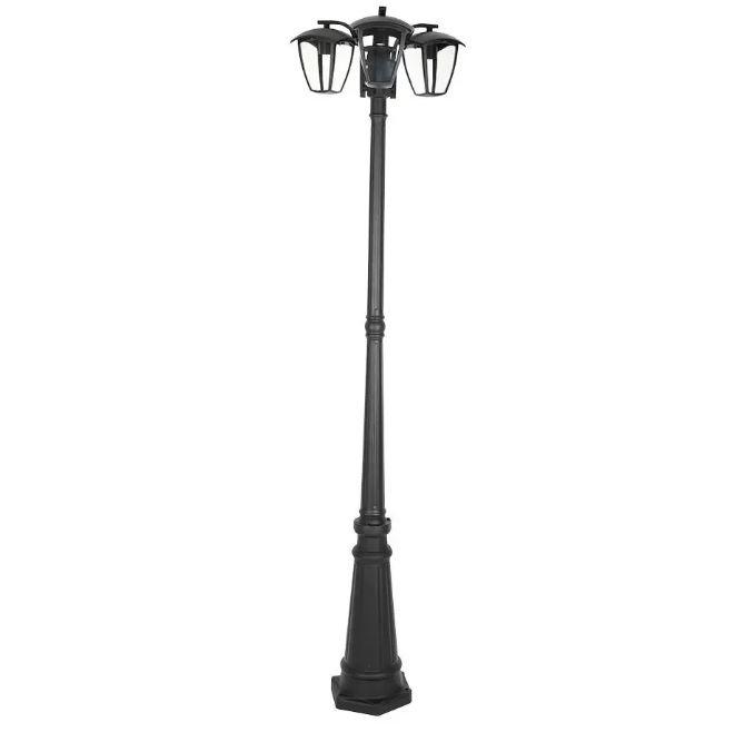 Pole Lamp 3XE27 1990mm IP44 Black