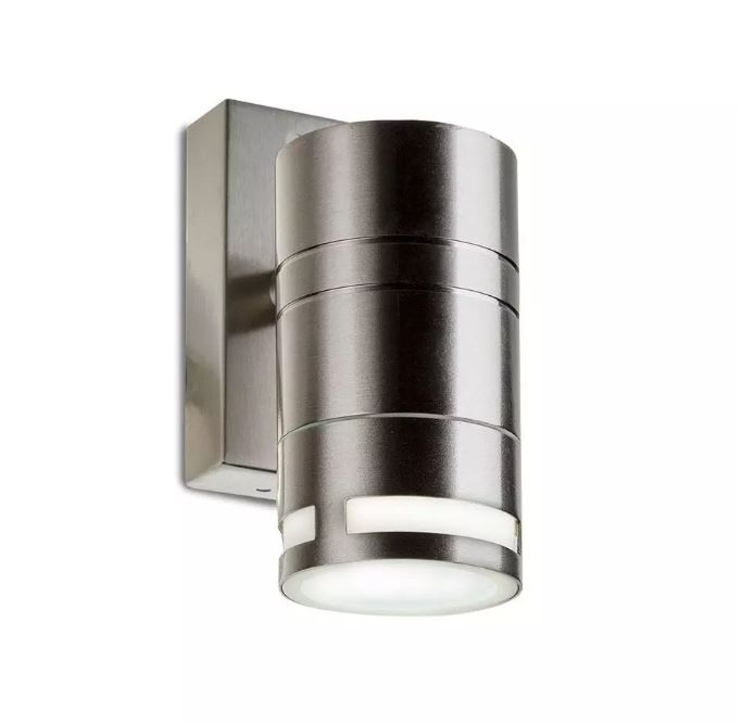 Wall Glass Fitting GU10 Steel Body 1 Way IP44