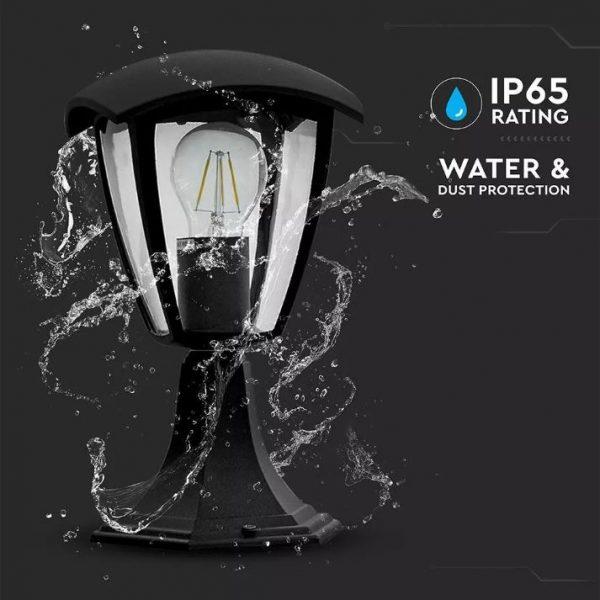 Garden Lamp 300mm IP44 Black