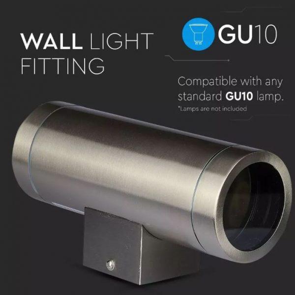 Wall Sleek Wall Fitting Steel Body 2Way IP44