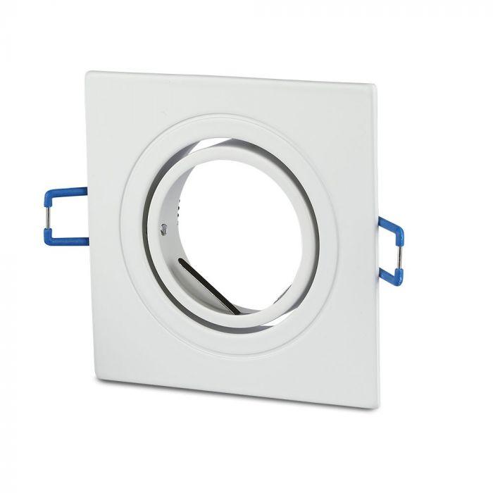 1*GU10 Fitting Round/ Square Shape, Aluminium/White Body Colour