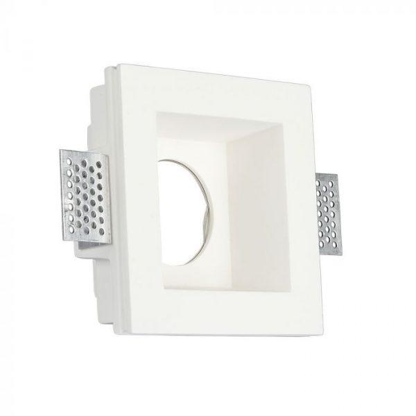 GU10 Gypsum Fitting Square Deep 120x120 White