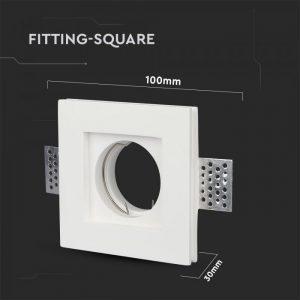 GU10 Fitting Square Gypsum 100x100 White