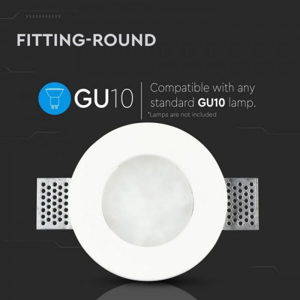GU10 Fitting With Frost Glass Round
