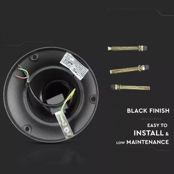 Pole Lamp 1XE27 1365mm IP44 Black