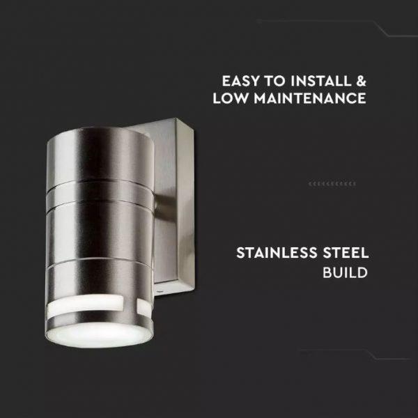 Wall Glass Fitting GU10 Steel Body 1 Way IP44