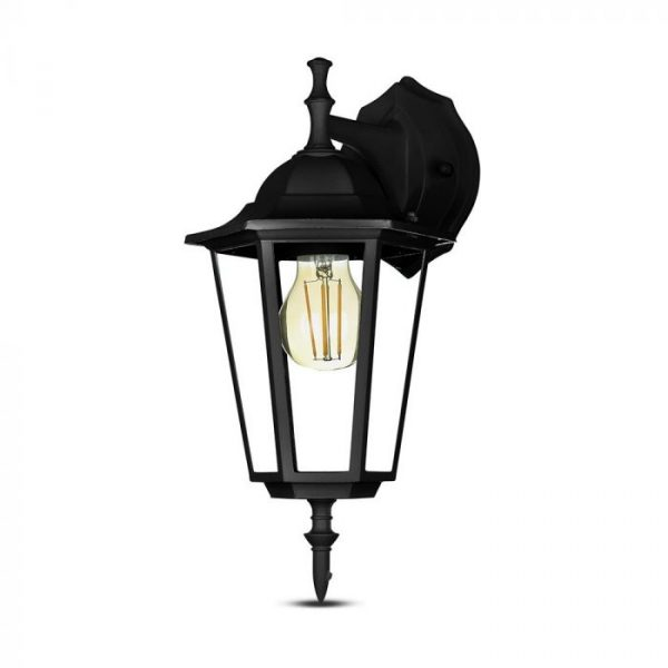 Wall Lamp E27 Matt Black Down