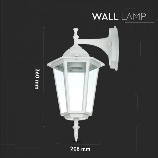 Wall Lamp E27 Matt White Down