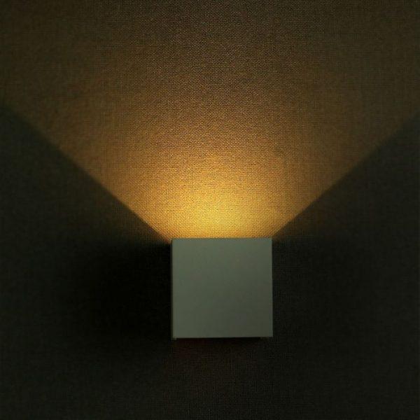 6W Square-Bridgelux Wall Lamp IP65 3000K/4000K