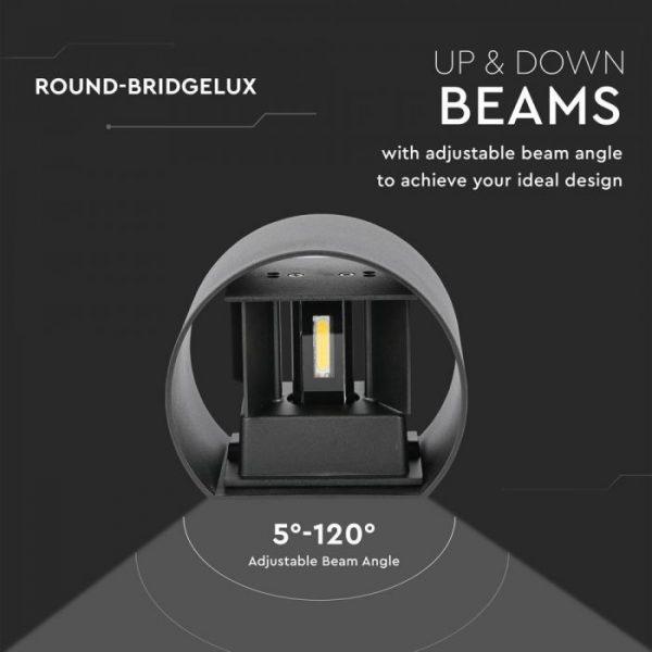 6W Round-Bridgelux Up-Down Wall Lamp IP65