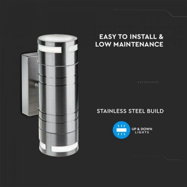 Wall Glass Fitting GU10 Steel Body 2 Way IP44
